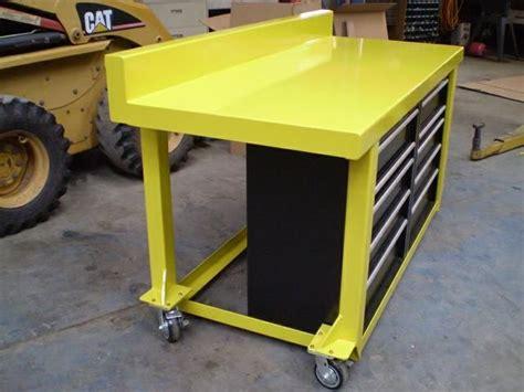 pin  chris carlyle  garage shop metal work bench
