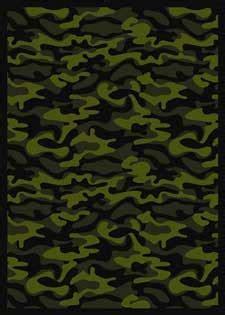 funky camo printed carpets