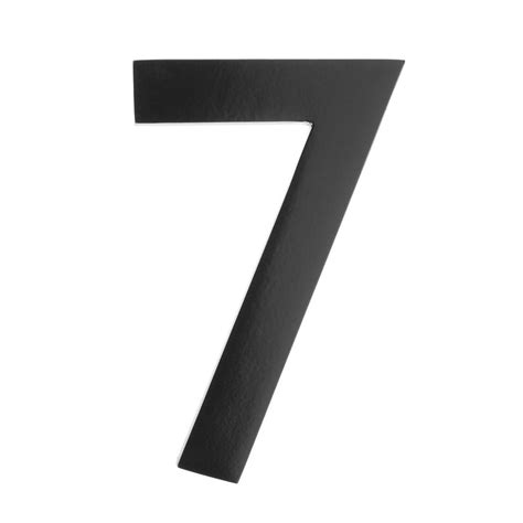 In Black architectural mailboxes 5 in black floating house number
