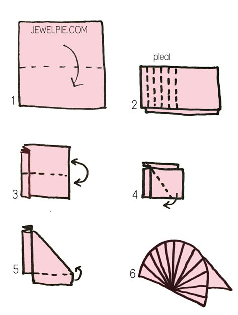 how to fold a napkin into a fan how to make origami chinese fan jewelpie