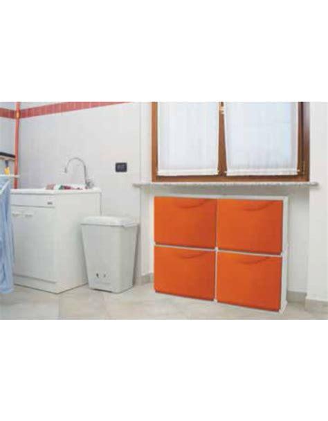 scarpiera arredo scarpiera modulare in abs antiurto arancione cm 51x19x39h