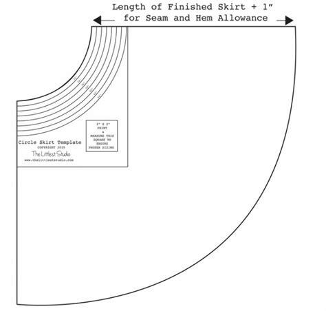 skirt template circle skirt tutorial the littlest studio