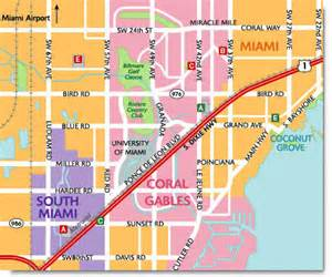 custom travel maps coral gables florida map