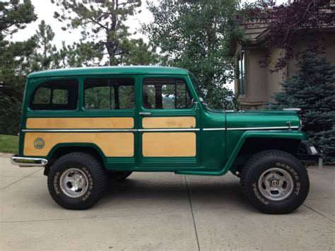 jeep station wagon lifted 1955 jeep willys station wagon 4wd restored and customized