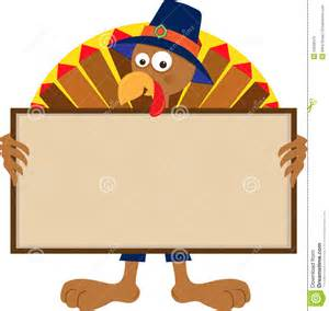 turkey holding sign stock vector image of character