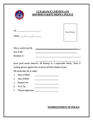 Police Clearance Online - Fill Online, Printable, Fillable