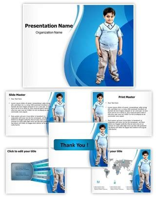 powerpoint templates free obesity professional obesity in children editable powerpoint template