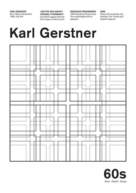 grid pattern font karl gerstner poster on behance art and design