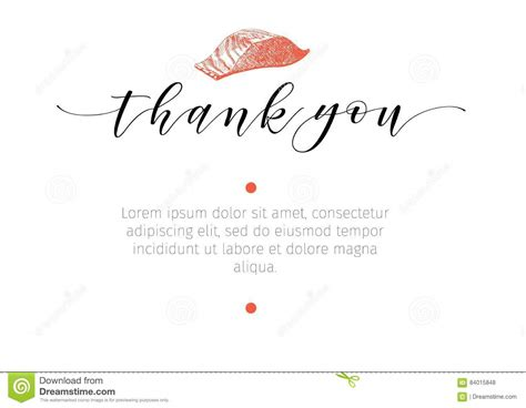 Thank You Letter For Restaurant vector set for seafood restaurant branding banner thank
