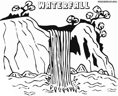 coloring page waterfall waterfall coloring pages coloring pages to download and
