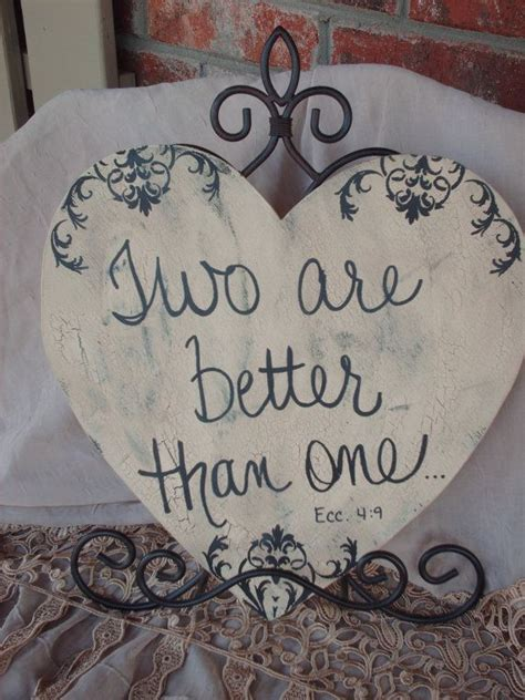 wedding sign shabby chic two are better than one sign