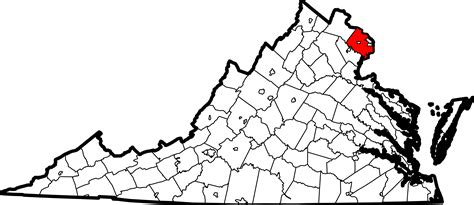 Virginia Search Fairfax County File Map Of Virginia Highlighting Fairfax County Svg Wikimedia Commons