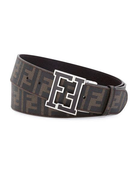 fendi s zucca college reversible belt brown