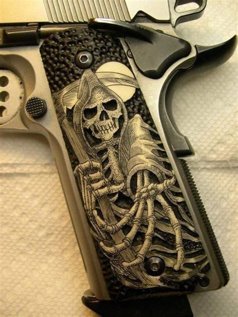 1911 tattoo designs grim reaper 1911 grip http www rgrips for the mr