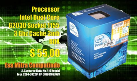 Intel Prosesor Dualcore G2030 Box processor intel dual g2030 socket 1155 3ghz c3mb