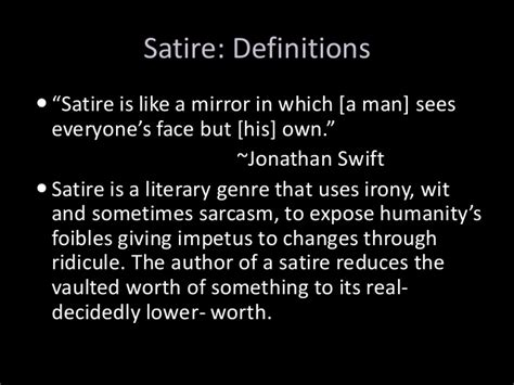 Essay Satiric by Satire Power Point