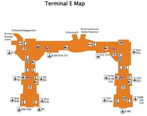 texas airport terminal map iah terminal e map houston airport terminal e map texas usa