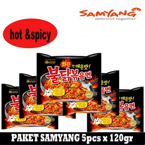 Samyang Chicken Ramen 5 Pcs 5x120gr samyang ramen spicy noodle mie paket isi 5 pcs cheap and fast delivery
