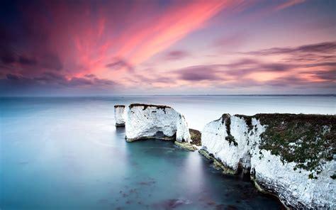 ocean white cliffs pink sunset wallpapers ocean white