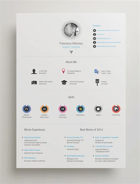 Resume in indesign template