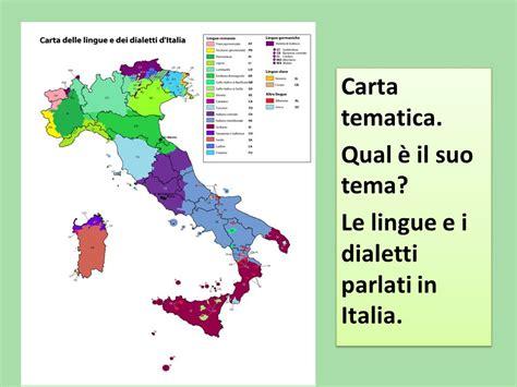 le lingue e il la carta tematica pu 242 essere di infiniti tipi in base a quale fenomeno si vuole analizzare e