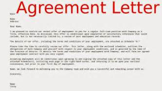 exles agreement letters sles business letters