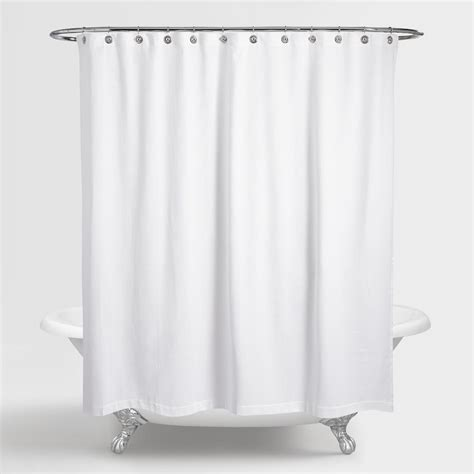 showe curtains waffle weave shower curtain world market
