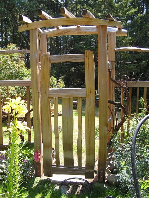 backyard gate garden gates cedar sustainable woodwork