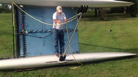 righting a capsized catamaran hobie righting youtube