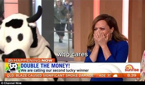 Sunrise Cash Giveaway - david koch tells a viewer to get stuffed during cash cow daily mail online
