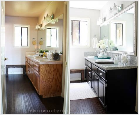 Bathroom Makeover Before And After by Guest Bathroom Makeover From Pink To Fab Ask