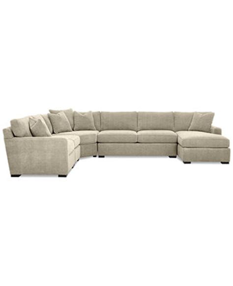 radley sectional reviews radley 5 piece fabric chaise sectional sofa furniture