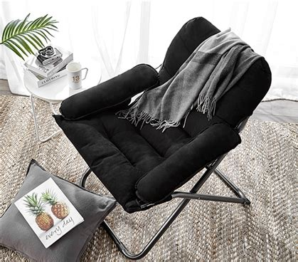 college club dorm chair plush extra tall black dorm room furniture college stuff soft