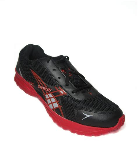paragon sports shoes paragon black synthetic leather sports shoes for