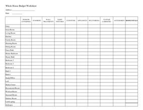 easy household budget template household budget template excel weekly budget template