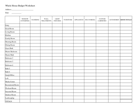 Template Budget Spreadsheet Budget Spreadsheet Spreadsheet Templates For Busines Free Printable Budget Worksheet Template