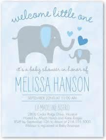 sweet elephant boy baby shower invitation invitations sweet and blue
