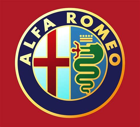 vintage alfa romeo logo quot alfa romeo classic car logos quot by brookestead redbubble