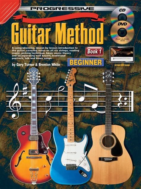 guitar book for beginners teach yourself how to play guitar songs guitar chords theory technique book lessons books progressive guitar method book 1