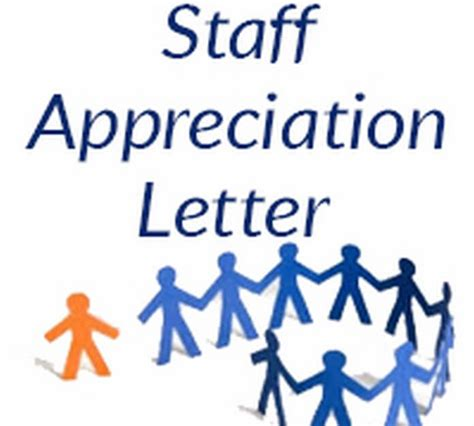 appreciation letter to the staff staff appreciation letter free letters