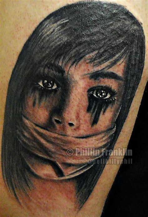 black and grey horror tattoos hellbillyphil black and grey horror creepy