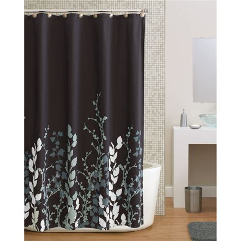bathroom curtains walmart hometrends shadow leaf shower curtain walmart com
