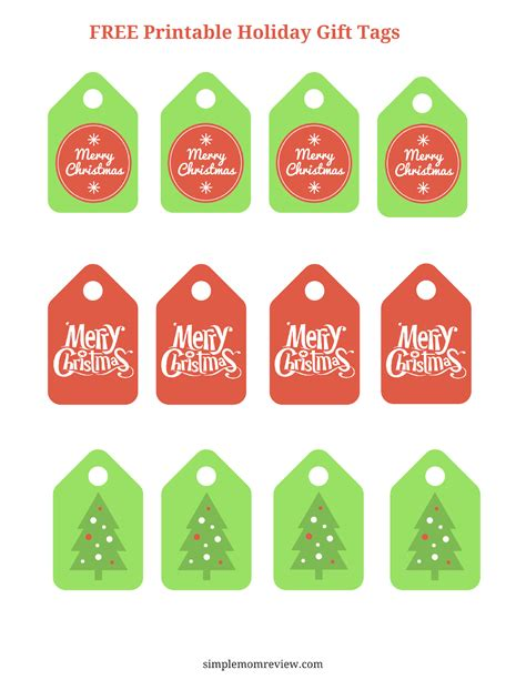 merry christmas gift tags  printable simple mom review