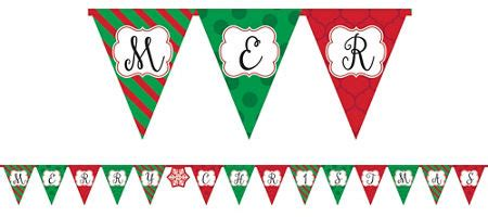 Traditional Christmas Classic Christmas Decorations Christmas Tableware Party City Canada Merry Letter Banner Template