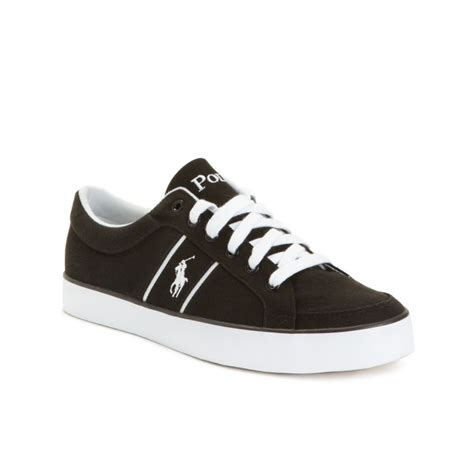ralph white sneakers ralph bolingbrook lace up sneakers in black for
