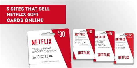 Buy Netflix Gift Card - 5 sites that sell netflix gift cards online