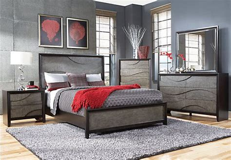 bedrooms to go shop for a modern wave ebony 5 pc queen bedroom at rooms