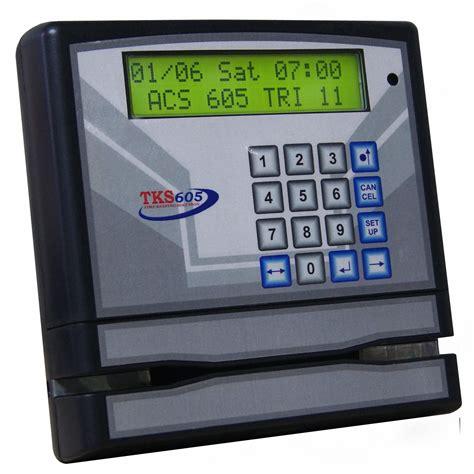 Jual Saklar Kartu Hotel jual mesin absensi kartu magnetic merek tks harga murah