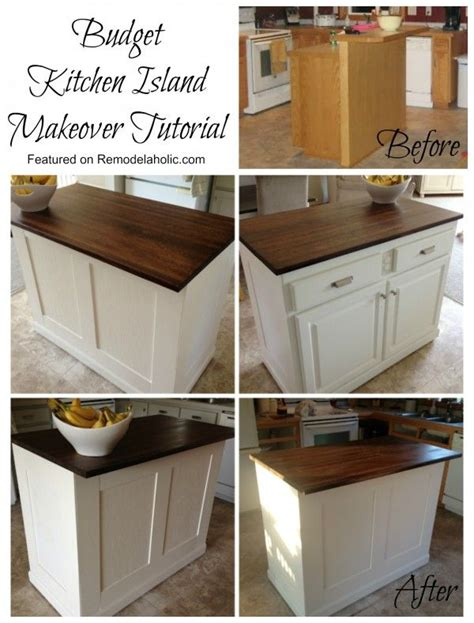 kitchen island makeover on bead board kitchens