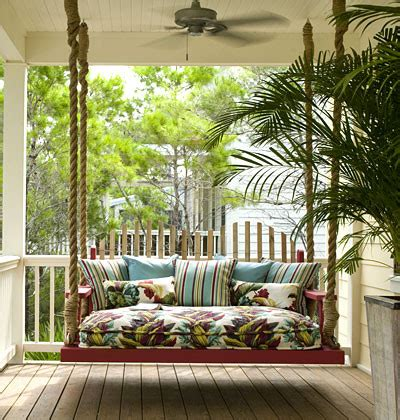 tropical swing porch swing tropical porch